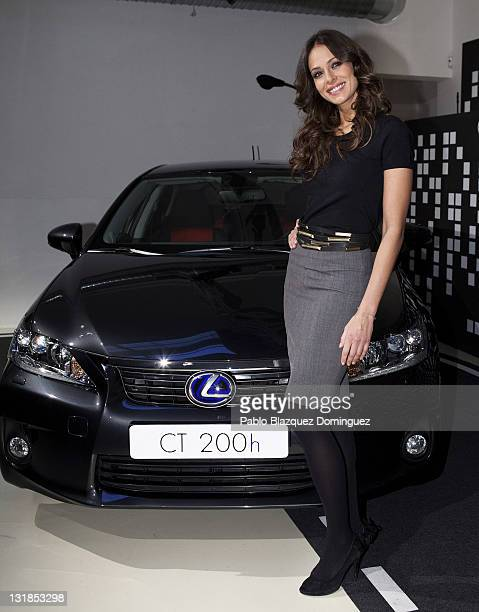 Eva Gonzalez presents the Lexus CT200H Car at Milk Studio on December 16 2010 in Madrid Spain