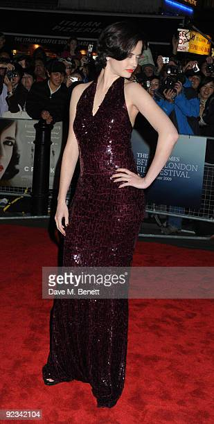 Eva Green arrives for the screening of 'Cracks' during the Times BFI 53rd London Film Festival at the Vue West End on October 25 2009 in London...