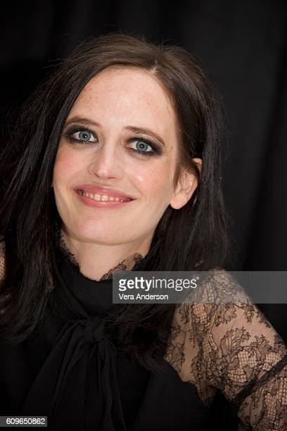 Eva Green at the 'Miss Peregrine's Home for Peculiar Children' Press Conference at the Claridges Hotel on September 21 2016 in London England