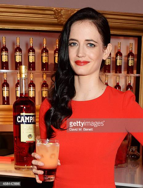 Eva Green attends as Italian drinks brand Campari launches their exclusive 2015 Campari Calendar at Shoreditch Studios on November 5 2014 in London...