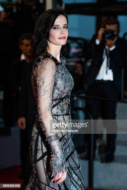 Eva Green attends the 'Based On A True Story' screening during the 70th annual Cannes Film Festival at Palais des Festivals on May 27 2017 in Cannes...