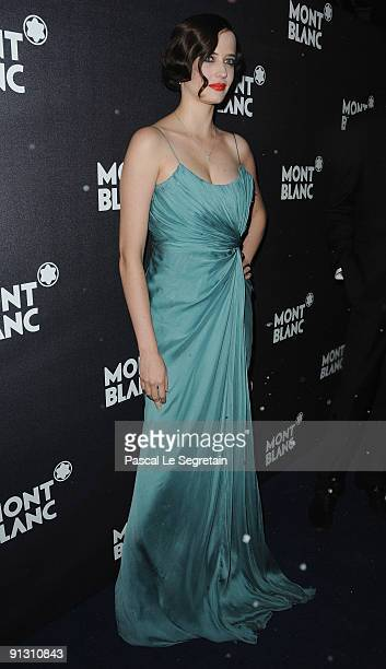 Eva Green attends the Montblanc Paris Flagship Boutique Launch Inauguration Cocktail party on October 1 2009 in Paris France