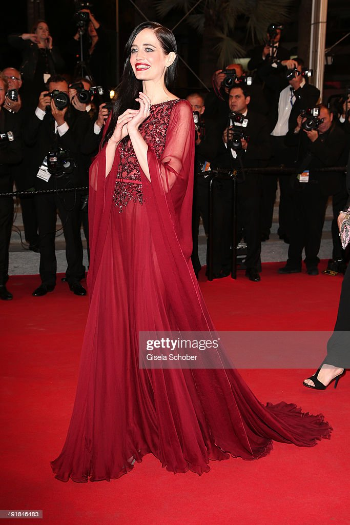 <a gi-track='captionPersonalityLinkClicked' href=/galleries/search?phrase=Eva+Green&family=editorial&specificpeople=211151 ng-click='$event.stopPropagation()'>Eva Green</a> attends the 'The Salvation' premiere during the 67th Annual Cannes Film Festival on May 17, 2014 in Cannes, France.