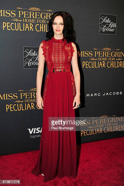 Eva Green attends the Twentieth Century Fox Saks Fifth Avenue and Visa Signature Present 'Miss Peregrine's Home for Peculiar Children' at Saks Fifth...