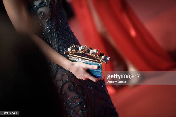 Eva Green handbag detail at the 'Based On A True Story' screening during the 70th annual Cannes Film Festival at Palais des Festivals on May 27 2017...