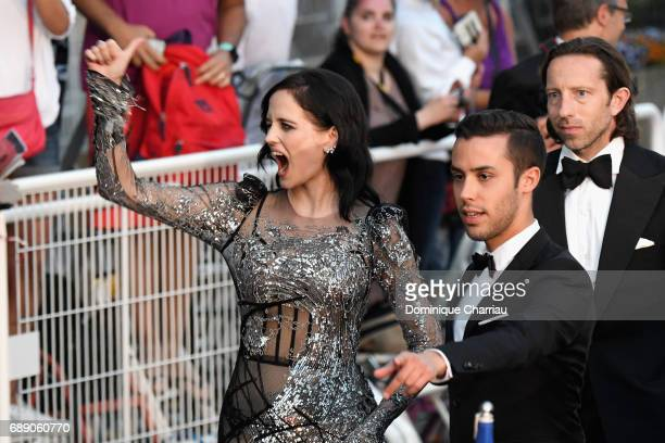 Eva Green leaves the 'Based On A True Story' screening during the 70th annual Cannes Film Festival at Palais des Festivals on May 27 2017 in Cannes...