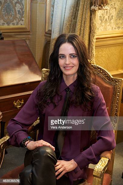 Eva Green on the set of 'Penny Dreadful' at Ardmore Studios on February 13 2015 in County Wicklow Ireland