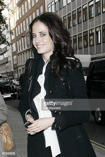 Eva Green sighted arriving at The Sanderson Hotel on October 26 2009 in London England
