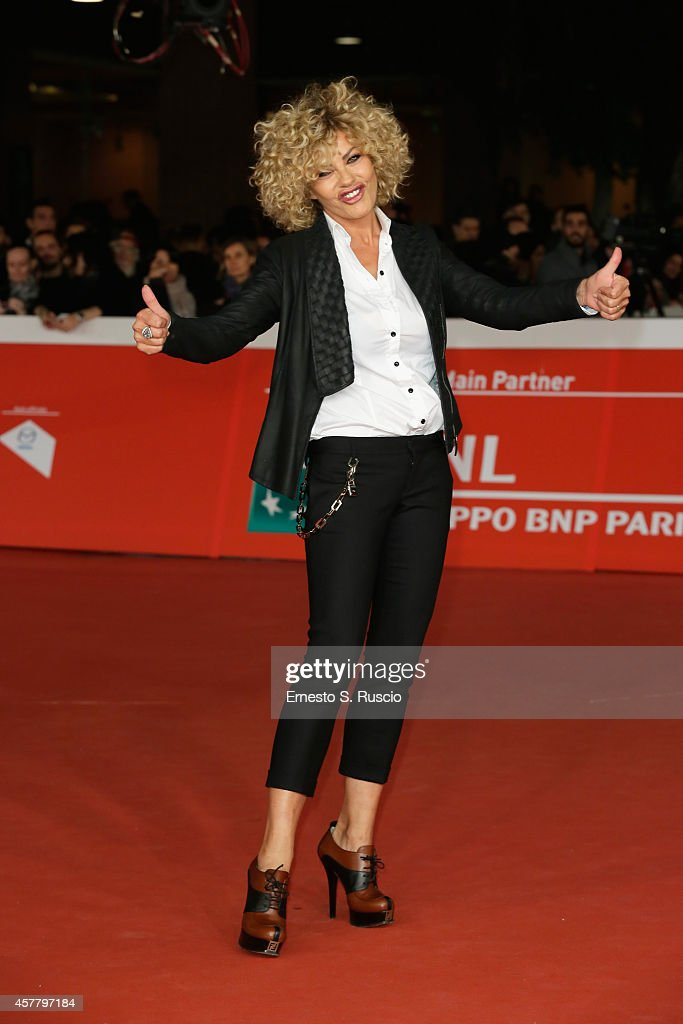 Eva Grimaldi attends the 'Haider' Red Carpet during the 9th Rome Film Festival on October 24 2014 in Rome Italy