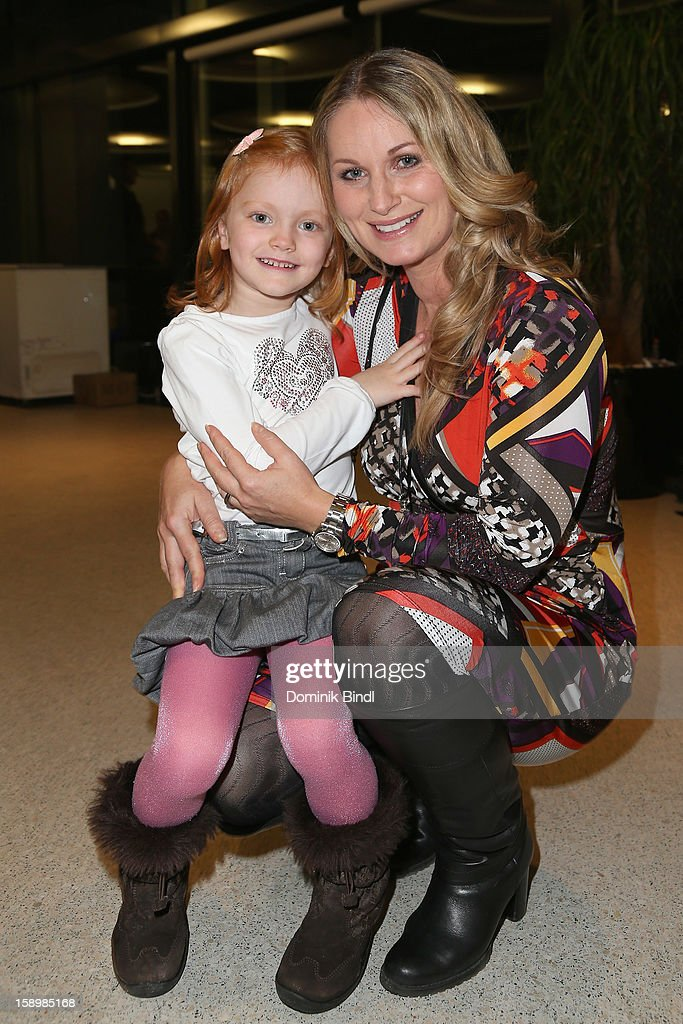 Eva Gruenbauer and her daughter Amelie attend the show 10 years of Appassionata - Friends Forever on January 4, 2013 in Munich, Germany.