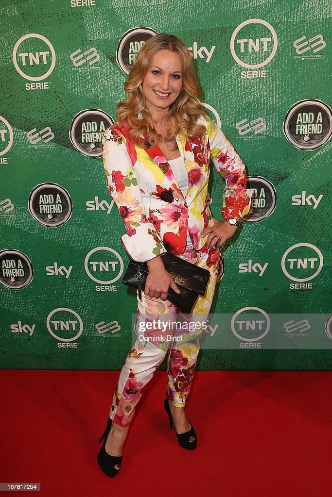 Eva Gruenbauer attends 'Add a Friend' Preview Event of TNT Serie at Bayerischer Hof on April 30, 2013 in Munich, Germany. The second season series premieres on May 6 (every Monday at 8:15 pm on TNT Serie).