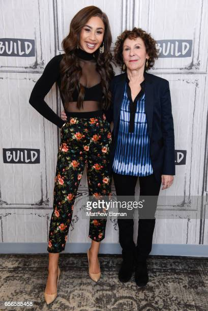 Eva Gutowski and Rhea Perlman attend Build Series Presents Rhea Perlman and Eva Gutowski discussing 'Me And My Grandma' at Build Studio on March 22...