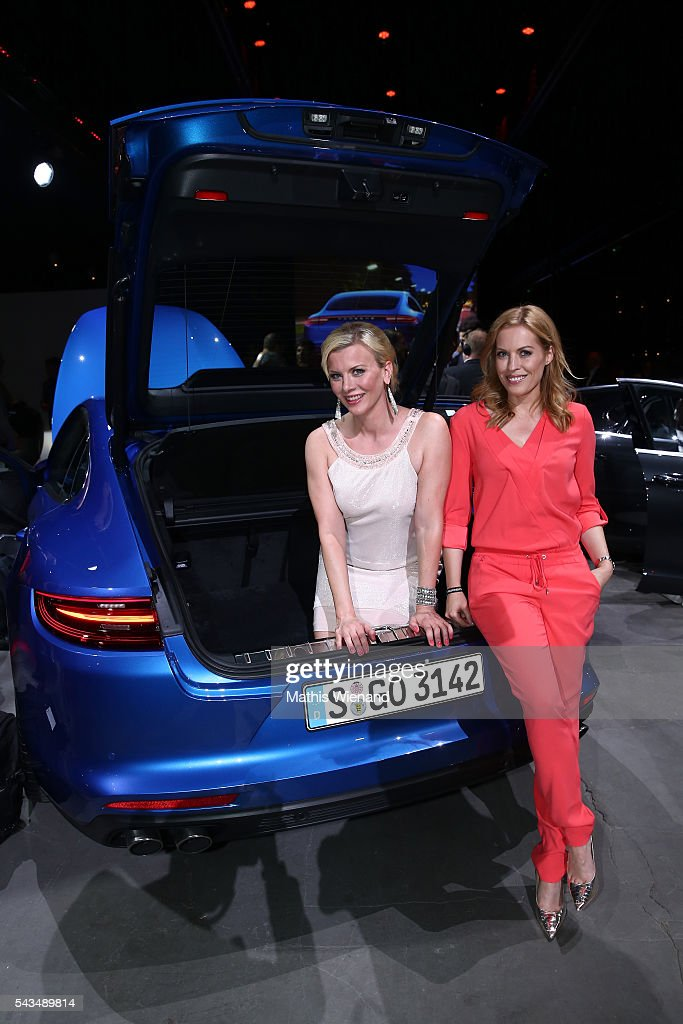 <a gi-track='captionPersonalityLinkClicked' href=/galleries/search?phrase=Eva+Habermann&family=editorial&specificpeople=224519 ng-click='$event.stopPropagation()'>Eva Habermann</a> and Jule Goelsdorf attend the World Premiere Of New Porsche Panamera on June 28, 2016 in Berlin, Germany.