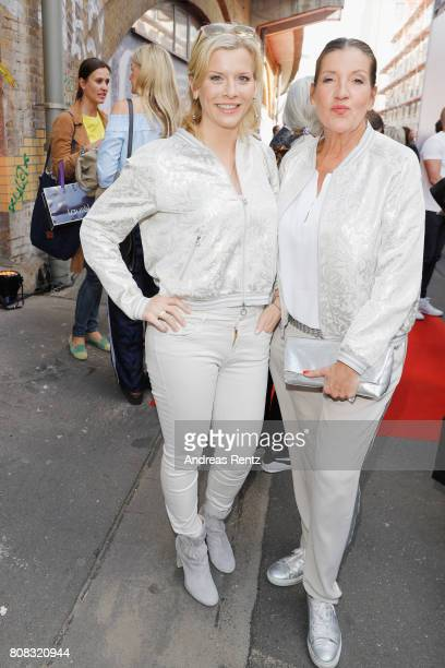 Eva Habermann and Katy Karrenbauer attend the Riani Fashion Show Spring/Summer 2018 at Umspannwerk Kreuzberg on July 4 2017 in Berlin Germany