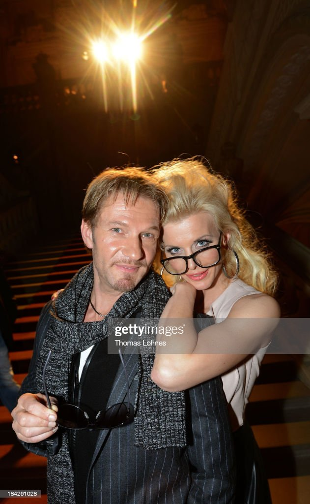 <a gi-track='captionPersonalityLinkClicked' href=/galleries/search?phrase=Eva+Habermann&family=editorial&specificpeople=224519 ng-click='$event.stopPropagation()'>Eva Habermann</a> and Thure Riefenstein pose the Minx fashion night at Residenz on October 12, 2013 in Wuerzburg, Germany. The benefit of the charity gala is for the aid organisation 'Sauti Kuu' of Auma Obama. Behind the fashion label Minx stands Eva Lutz.