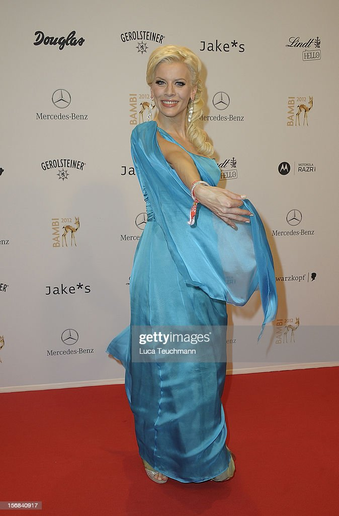Eva Habermann attends 'BAMBI Awards 2012' at the Stadthalle Duesseldorf on November 22, 2012 in Duesseldorf, Germany.
