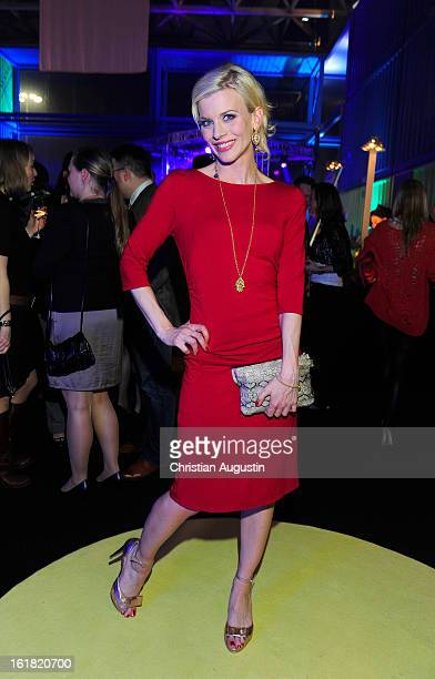 Eva Habermann attends Brigitte Fashion Event 2013 at Hamburg Cruise Center on February 16 2013 in Hamburg Germany