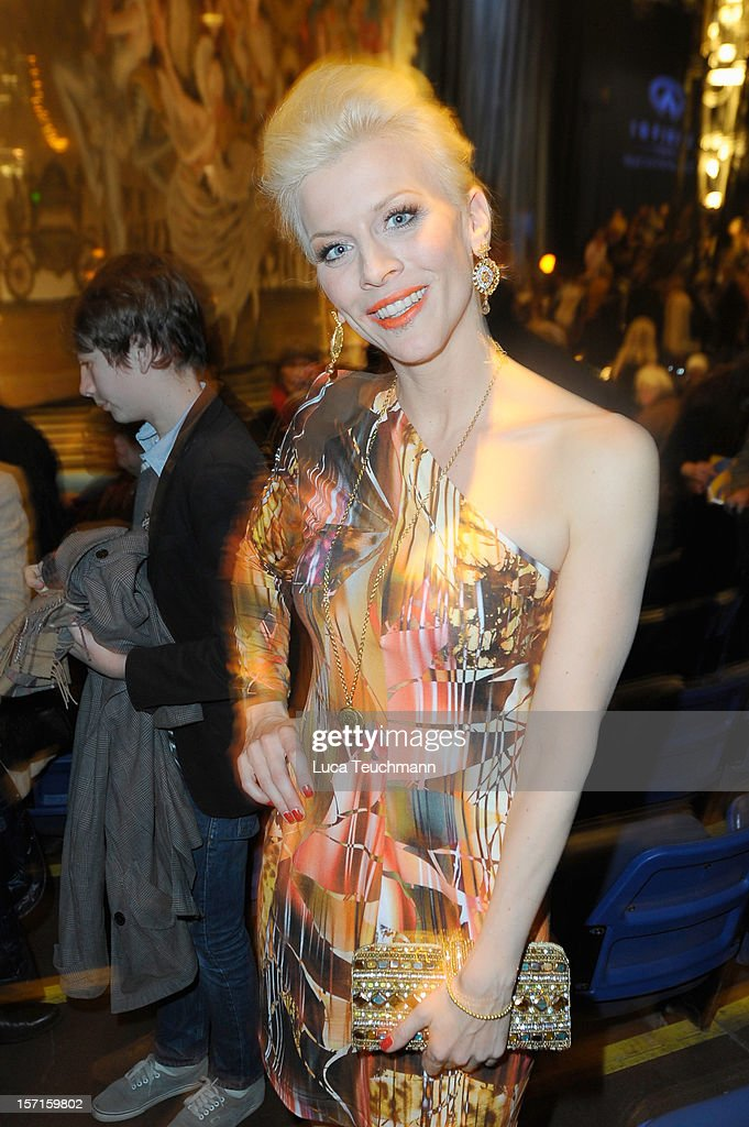 Eva Habermann attends Cirque Du Soleil Germany Premiere at Corteo Berlin - Under the Grand Chapiteau on November 29, 2012 in Berlin, Germany.