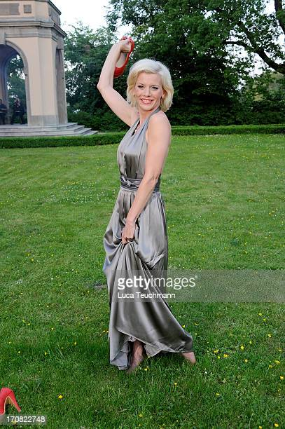 Eva Habermann attends the '41th International Emmy Awards Semi Final Hosting' reception at Villa Borsig on June 18 2013 in Berlin Germany