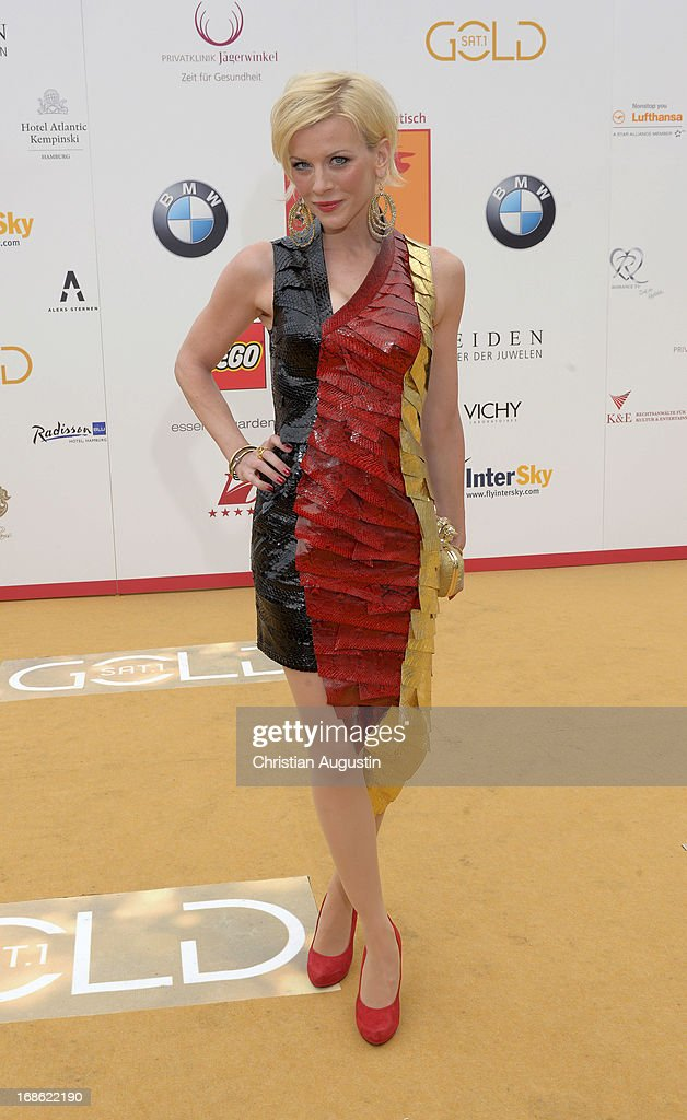 <a gi-track='captionPersonalityLinkClicked' href=/galleries/search?phrase=Eva+Habermann&family=editorial&specificpeople=224519 ng-click='$event.stopPropagation()'>Eva Habermann</a> attends the charity event 'Die Goldene Deutschland' at MS Deutschland on May 12, 2013 in Hamburg, Germany.