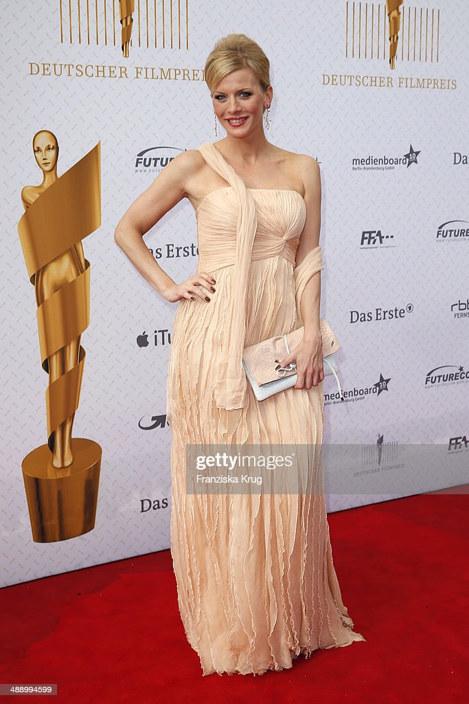 <a gi-track='captionPersonalityLinkClicked' href=/galleries/search?phrase=Eva+Habermann&family=editorial&specificpeople=224519 ng-click='$event.stopPropagation()'>Eva Habermann</a> attends the Lola - German Film Award 2014 at Tempodrom on May 09, 2014 in Berlin, Germany.