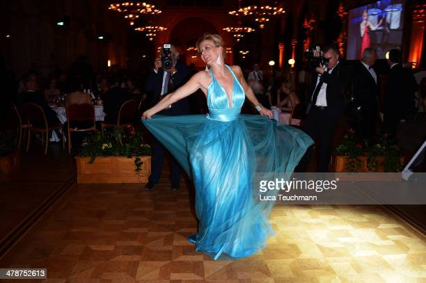 Eva Habermann dances at the 5th Filmball Vienna at City Hall on March 14 2014 in Vienna Austria