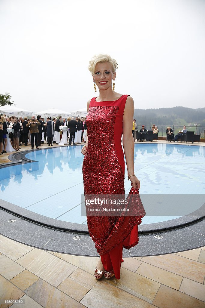 Eva Habermann poses prior to the Spa Diamond Award 2013 on May 4, 2013 in Bad Peterstal-Griesbach, Germany.