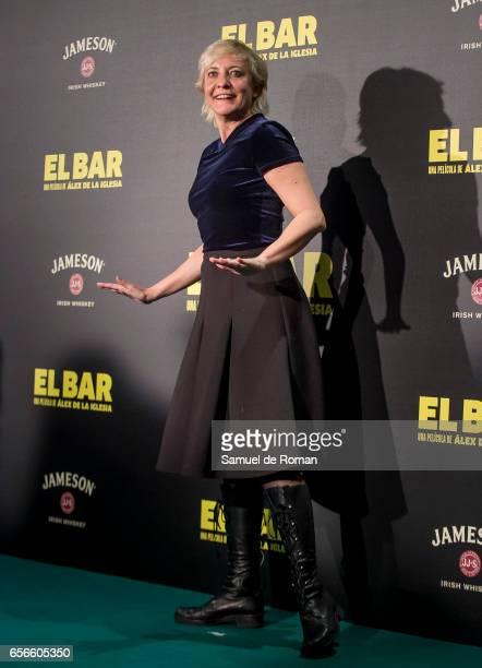 Eva Hache attends 'El Bar' premiere at Callao cinema on March 22 2017 in Madrid Spain