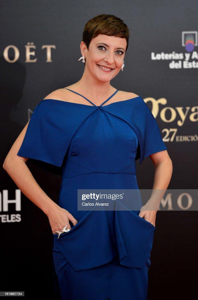 Eva Hache attends Goya Cinema Awards 2013 at Centro de Congresos Principe Felipe on February 17, 2013 in Madrid, Spain.