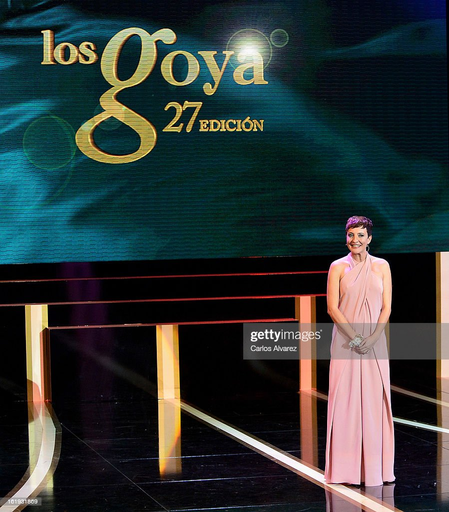 Eva Hache attends the Goya Cinema Awards 2013 ceremony at Centro de Congresos Principe Felipe on February 17, 2013 in Madrid, Spain.
