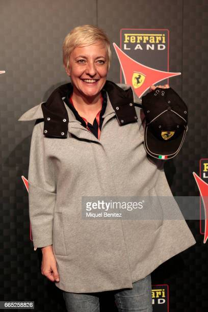 Eva Hache attends the new Ferrari Land at Port Aventura World on April 6 2017 in Tarragona Spain