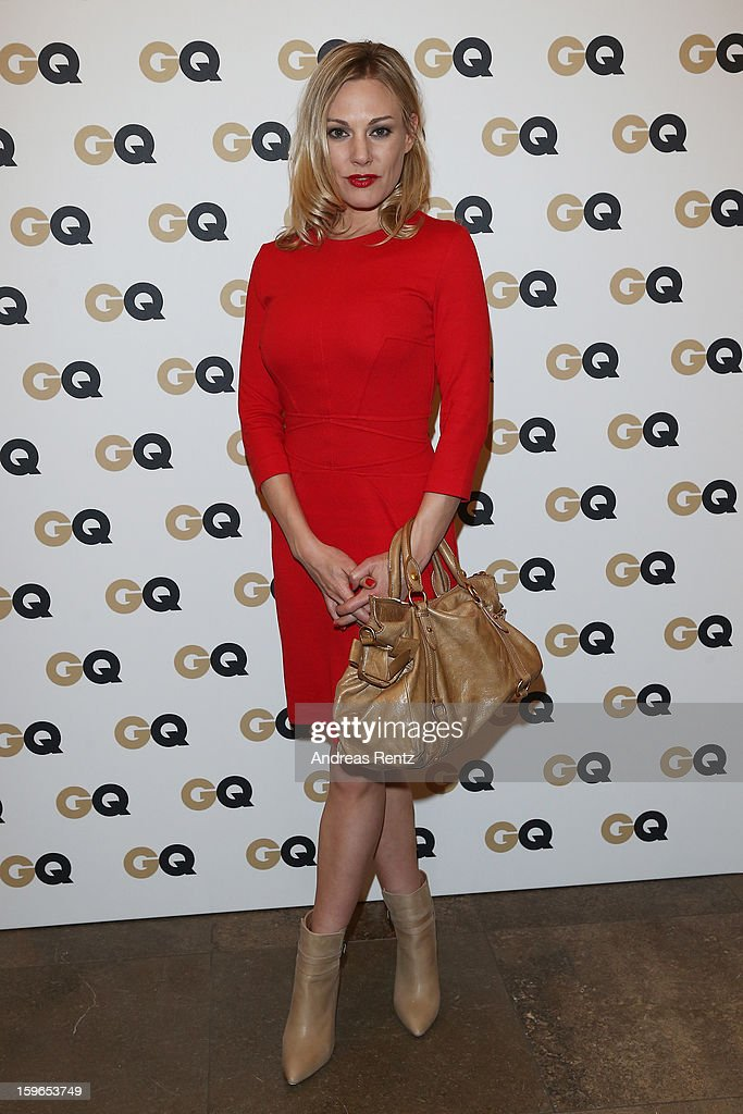 Eva Hassmann attends GQ Best Dressed cocktail at Das Stue hotel on January 17, 2013 in Berlin, Germany.