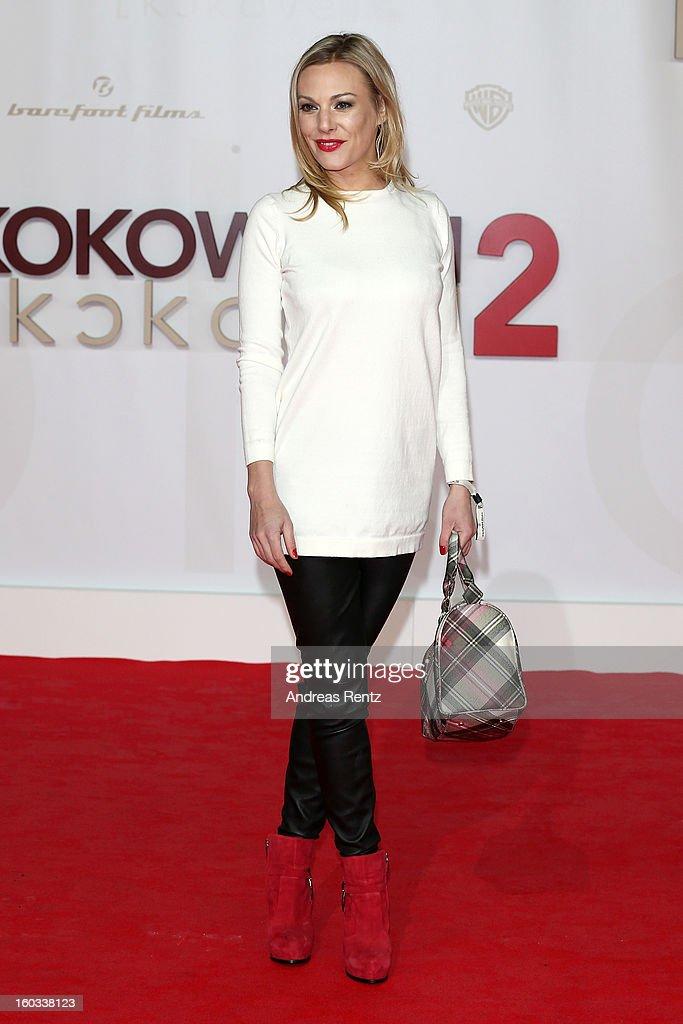 Eva Hassmann attends 'Kokowaeaeh 2' - Germany Premiere at Cinestar Potsdamer Platz on January 29, 2013 in Berlin, Germany.