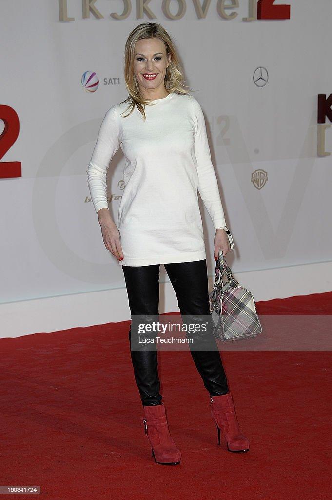 Eva Hassmann attends 'Kokowaeaeh 2' Germany Premiere at Cinestar Potsdamer Platz on January 29, 2013 in Berlin, Germany.