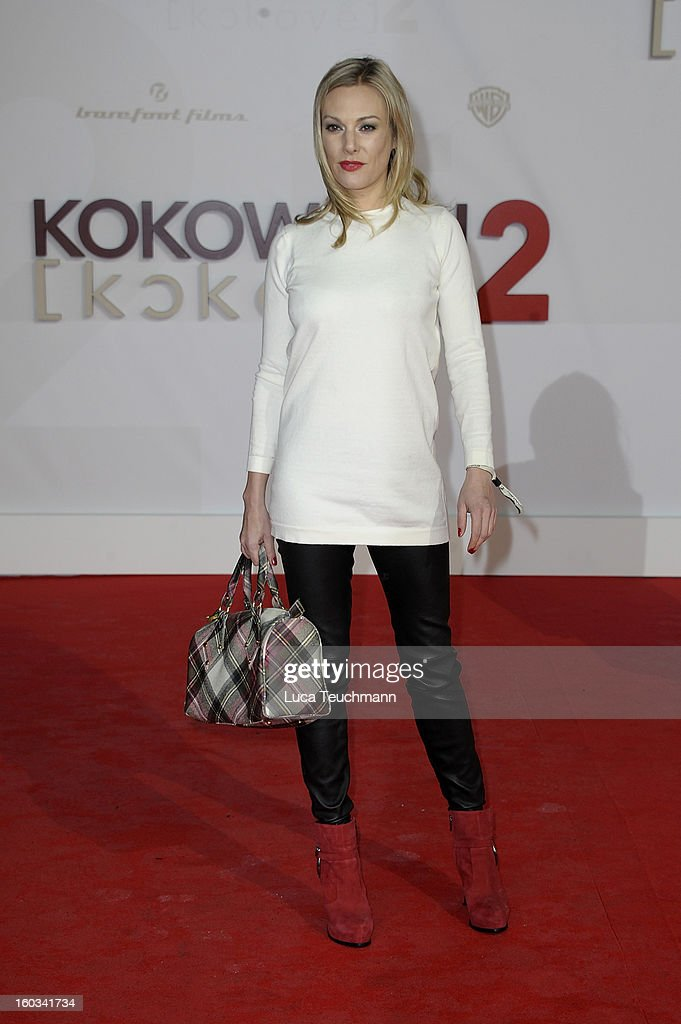 Eva Hassmann attends 'Kokowaeaeh 2' Germany Premiere at Cinestar Potsdamer Platz on January 29, 2013 in Berlin, Germany.
