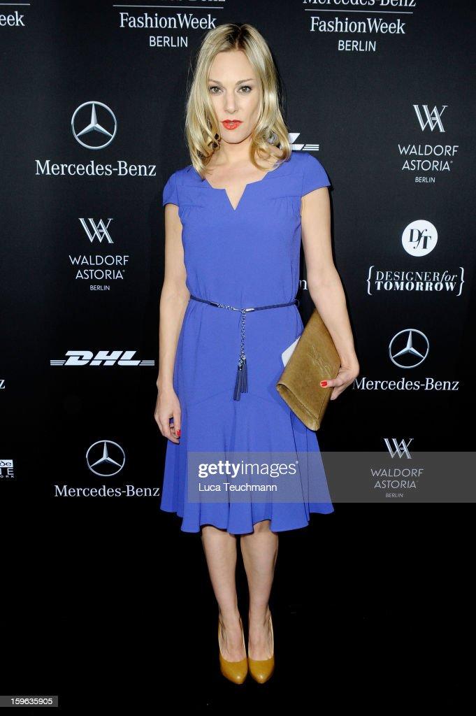 Eva Hassmann attends the Laurel Autumn/Winter 2013/14 fashion show during Mercedes-Benz Fashion Week Berlin at Brandenburg Gate on January 17, 2013 in Berlin, Germany.