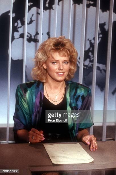 Eva Herman Präsentation als neue Nachrichtensprecherin bei ARD'Tagesschau' am im Studio in Hamburg Deutschland
