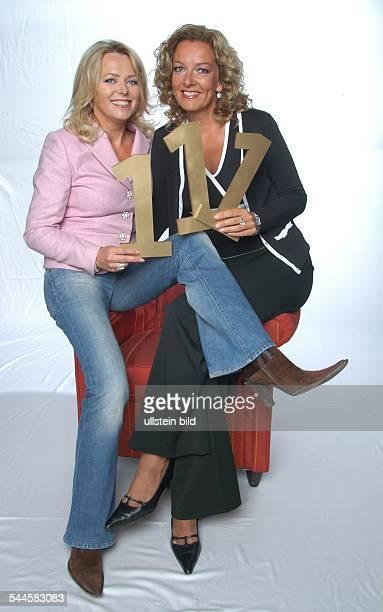 Eva Herman und Bettina Tietjen Moderatorinnen der 111 Sendung der NDRTalkshow 'Herman Tietjen'