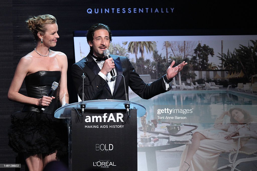<a gi-track='captionPersonalityLinkClicked' href=/galleries/search?phrase=Eva+Herzigova&family=editorial&specificpeople=156428 ng-click='$event.stopPropagation()'>Eva Herzigova</a> and <a gi-track='captionPersonalityLinkClicked' href=/galleries/search?phrase=Adrien+Brody&family=editorial&specificpeople=202175 ng-click='$event.stopPropagation()'>Adrien Brody</a> attend amfAR's Cinema Against AIDS auction at Hotel Du Cap on May 24, 2012 in Antibes, France.