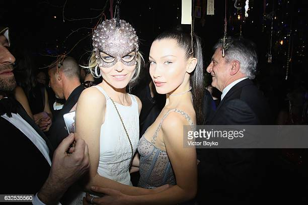 Eva Herzigova and Bella Hadid attend the Christian Dior Haute Couture Spring Summer 2017 Bal Masque as part of Paris Fashion Week on January 23 2017...