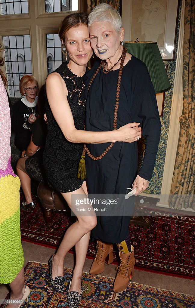 <a gi-track='captionPersonalityLinkClicked' href=/galleries/search?phrase=Eva+Herzigova&family=editorial&specificpeople=156428 ng-click='$event.stopPropagation()'>Eva Herzigova</a> (L) and Dame <a gi-track='captionPersonalityLinkClicked' href=/galleries/search?phrase=Vivienne+Westwood+-+Fashion+Designer&family=editorial&specificpeople=853100 ng-click='$event.stopPropagation()'>Vivienne Westwood</a> attend Tracey Emin's birthday party at Mark's Club on July 3, 2014 in London, England.