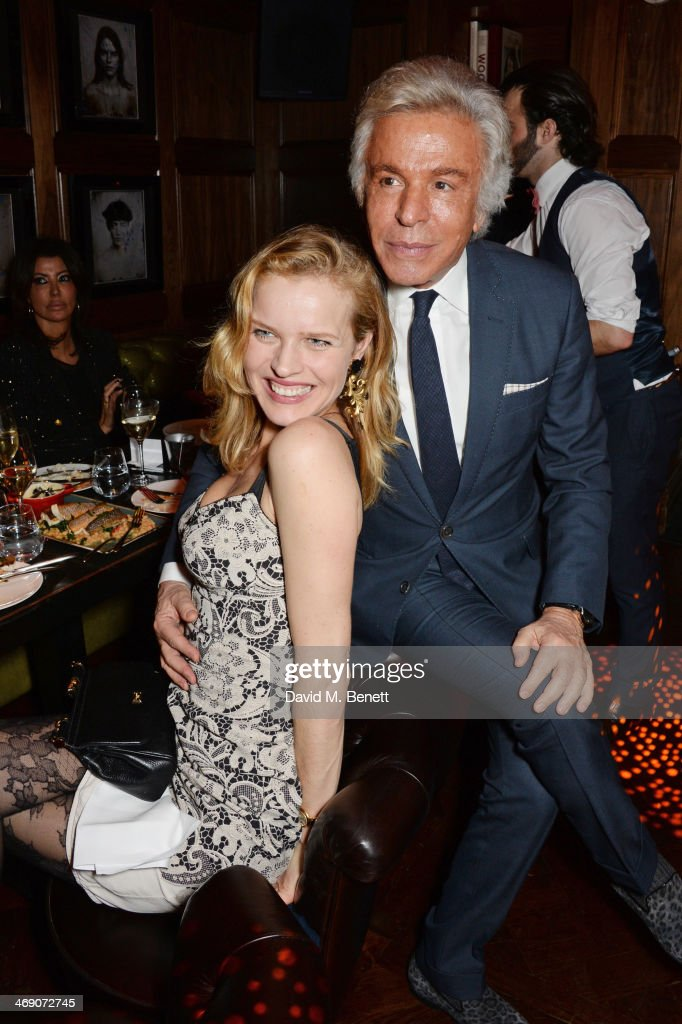 <a gi-track='captionPersonalityLinkClicked' href=/galleries/search?phrase=Eva+Herzigova&family=editorial&specificpeople=156428 ng-click='$event.stopPropagation()'>Eva Herzigova</a> (L) and <a gi-track='captionPersonalityLinkClicked' href=/galleries/search?phrase=Giancarlo+Giammetti&family=editorial&specificpeople=2137647 ng-click='$event.stopPropagation()'>Giancarlo Giammetti</a> attend Giorgio Veroni's birthday party hosted by his wife Tamara Beckwith at The Rififi Club on February 12, 2014 in London, England.