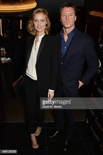 Eva Herzigova and Gregorio Marsiaj attend the Liberatum Cultural Honour for Francis Ford Coppola at The Bulgari Hotel on November 17 2014 in London...