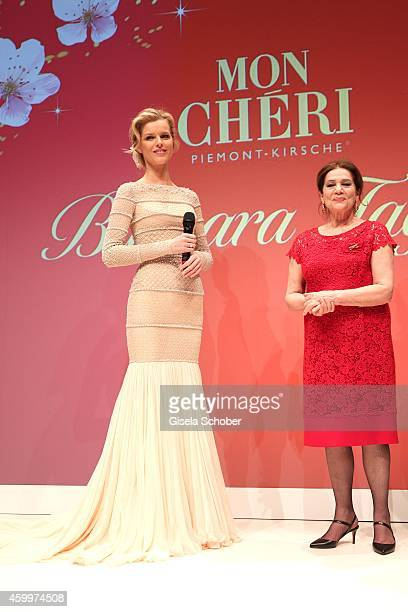 Eva Herzigova and Hannelore Elsner during the Mon Cheri Barbara Tag 2014 at Haus der Kunst on December 4 2014 in Munich Germany