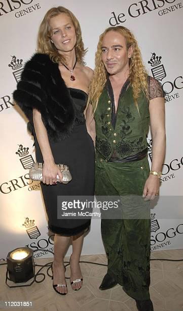 Eva Herzigova and John Galliano during 2005 Cannes Film Festival de Grisogono Party at Hotel Du Cap in Cannes France