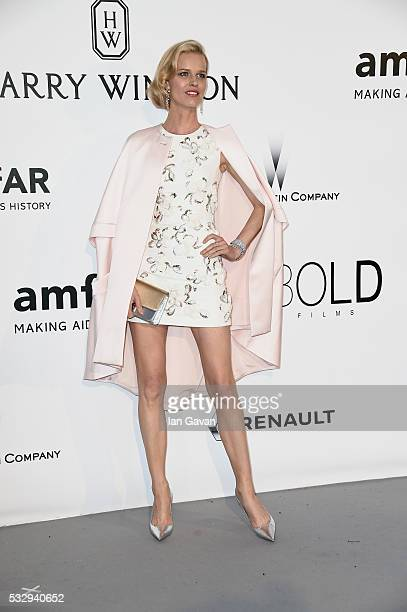 Eva Herzigova arrives at amfAR's 23rd Cinema Against AIDS Gala at Hotel du CapEdenRoc on May 19 2016 in Cap d'Antibes France