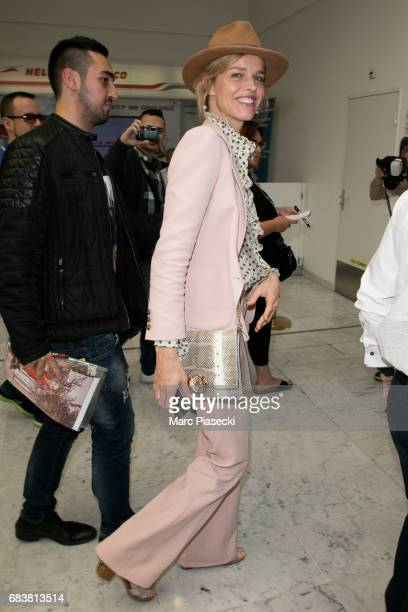 Eva Herzigova arrives at Nice airport ahead of the 70th annual Cannes Film Festival at on May 16 2017 in Cannes France