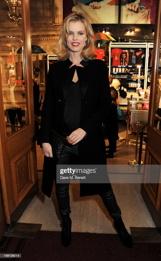 Eva Herzigova arrives at the opening night of Cirque Du Soleil's Kooza at Royal Albert Hall on January 8, 2013 in London, England.