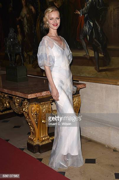 Eva Herzigova arrives for the Christian Dior showcase of its spring summer 2017 Cruise collection at Blenheim Palace on May 31 2016 in Woodstock...