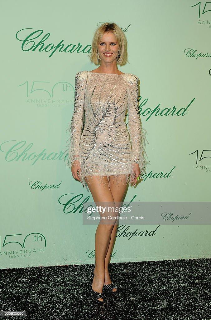 Eva Herzigova at the 'Chopard 150th Anniversary Party' during the 63rd Cannes International Film Festival.